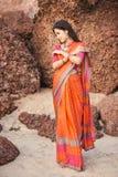 Indian woman in beautiful saree Stock Photos