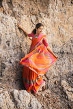 Indian woman in beautiful saree Royalty Free Stock Image