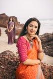 Indian woman in beautiful saree Stock Photography
