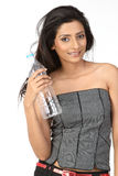 Indian woman with bottle of clean water Stock Image