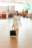 Indian woman business trip Royalty Free Stock Photo