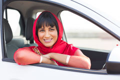 Indian woman car Stock Image