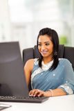 Indian woman computer Stock Photo