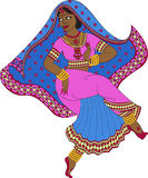 Indian woman dancer dancing Stock Photo