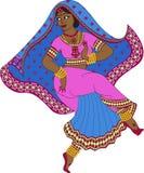 Indian woman dancer dancing Stock Photo