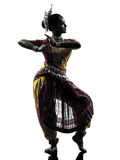Indian woman dancer dancing  silhouette Stock Image