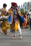 Indian woman dancing outside Stock Image
