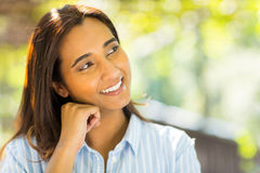 Indian woman daydreaming Stock Photography