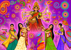 Indian woman doing dhunuchi dance of Bengal during Durga Puja Dussehra celebration in India Royalty Free Stock Photography