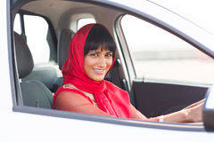 Indian woman driver Royalty Free Stock Photography