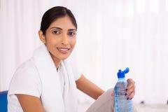 Indian woman exercising gym Royalty Free Stock Image