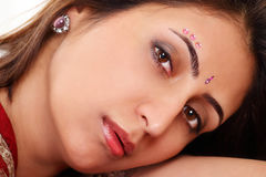 Indian woman face Stock Image