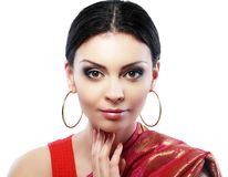 Indian woman face Royalty Free Stock Images