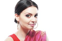 Indian woman face Stock Photos