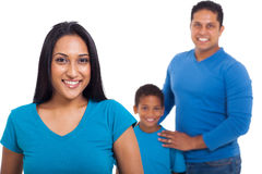 Indian woman family Royalty Free Stock Image