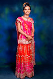 Indian woman in formal gown Stock Photography