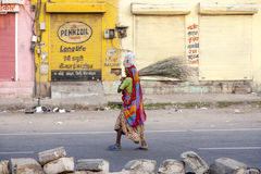 Indian Woman of the fourth Caste in the Streets of Jaipur, India Royalty Free Stock Photo