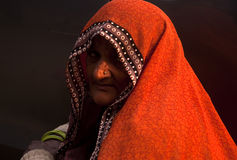 Indian woman gazing Stock Images
