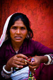 Indian woman of Goa, India Royalty Free Stock Images