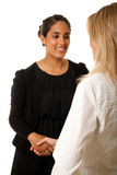Indian Woman Handshake Stock Photography