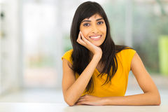 Indian woman home Stock Photo
