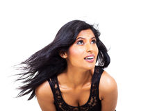 Indian woman looking up Stock Photo