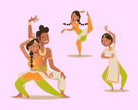 Indian woman man dancing vector isolated dancers silhouette icons  Royalty Free Stock Photos