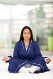 Indian woman meditating Royalty Free Stock Images