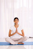 Indian woman meditating Stock Photography