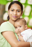 Indian woman mother and child boy royalty free stock images