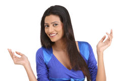 Indian woman with nice expression Stock Photos