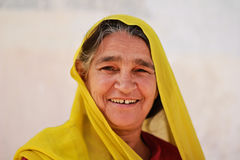 Indian Woman. NIMAJ BAGH, INDIA, FEBRUARY 28: An unidentified woman inside the village of Nimaj Bagh, Rajasthan, Northern India on FEBRUARY 28, 2012. The village Royalty Free Stock Photos