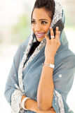 Indian woman phone Stock Image