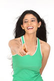 Indian  woman pointing her finger Royalty Free Stock Images