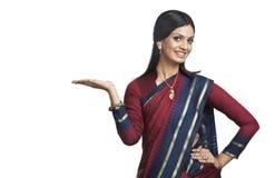 Indian woman posing in sari Stock Image