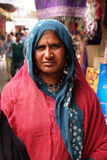 Indian woman posing on the street of Pushkar, India Stock Photo