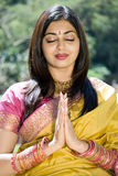 Indian woman praying Royalty Free Stock Image