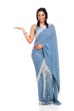 Indian woman presenting Stock Photography