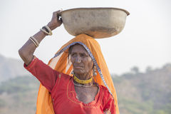 Indian woman. Pushkar Camel Mela, India Stock Photos