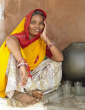Indian woman - Rajasthan in Northern India Royalty Free Stock Photography
