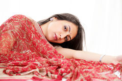 Indian woman in saree stock image