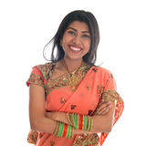 Indian woman in sari dress Stock Photography