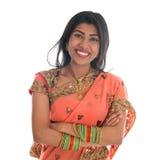 Indian woman in sari dress Stock Photography