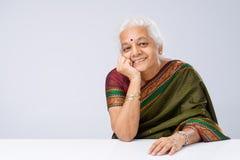 Indian woman in sari Stock Images