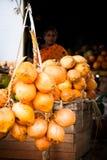 Indian woman selling papaya fruits. Madurai, India Stock Image