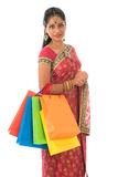Indian woman shopping Stock Images