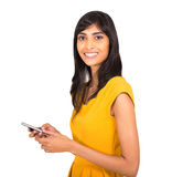 Indian woman smart phone Royalty Free Stock Photography