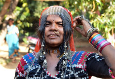 Indian woman. Woman on the street  in India, Goa Stock Photos