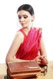Indian woman studing Stock Photo