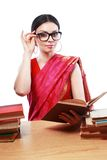 Indian woman studing Royalty Free Stock Photography